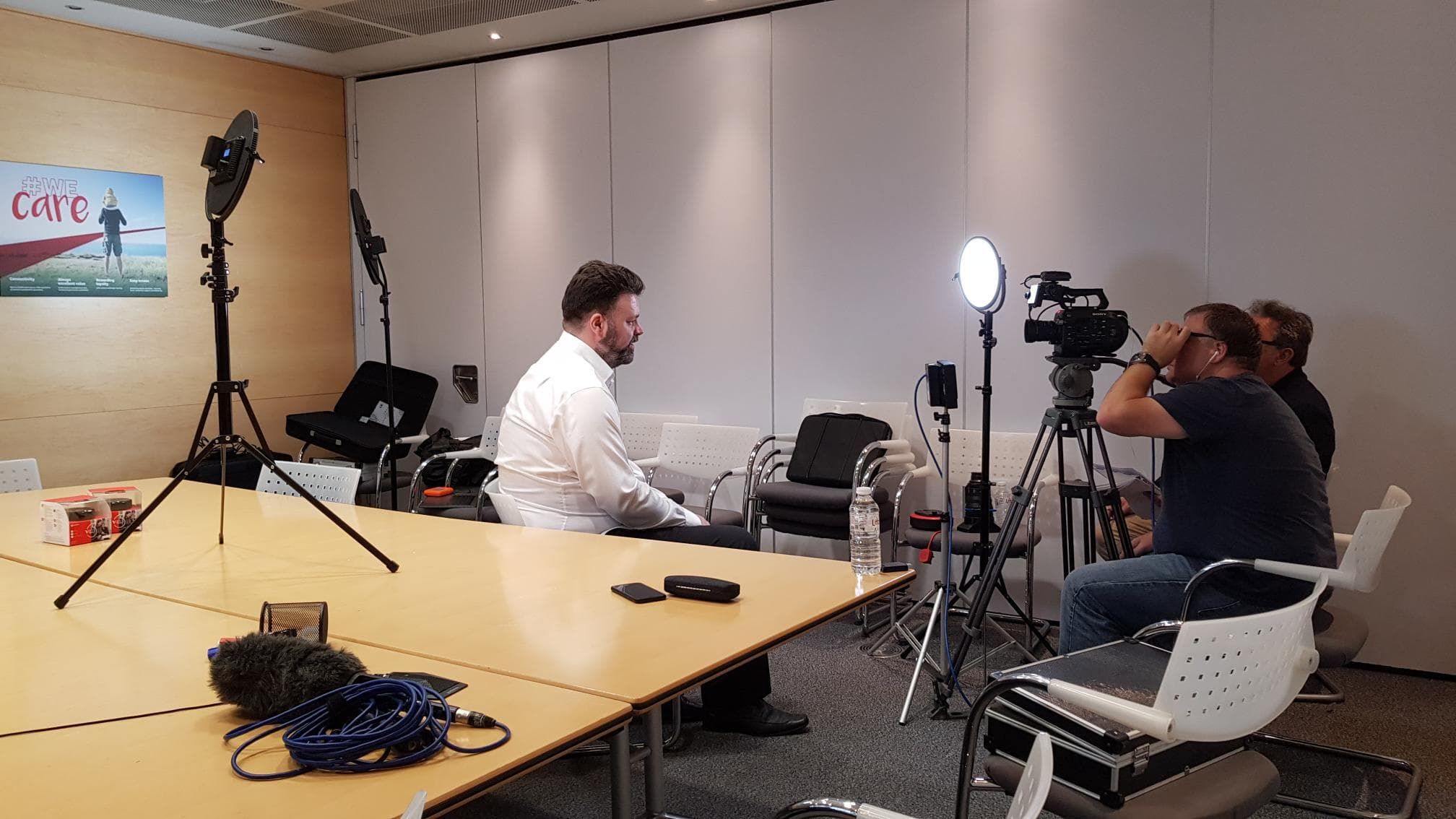 Filming at Vodafone HQ